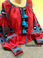 Блуза женская с вышивкой БЖ 1011,вышиванка, вышитая блузка, вишита блузка, вишиванка