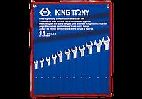 Набор комбинированных удлиненных ключей, 8-24 мм, чехол из теторона, 11шт. King Tony 12A1MRN
