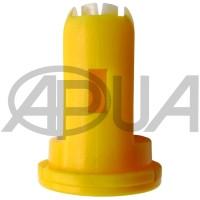 Распылитель форсунки опрыскивателя керамический компактный щелевой инжекторный 110° желтый 02 Agroplast (Агропласт)