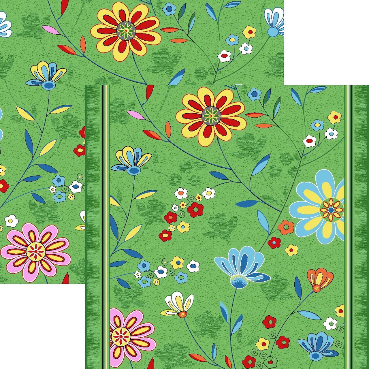 Детский ковролин Цветы 20