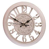 Настенные часы бежевые, 28 см (арт. 068A/cream)