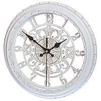 Настенные часы в стиле прованс, 28 см (арт. 131A/white)