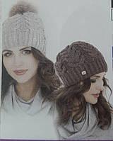 """Стильная теплая шапка """"Анжелика"""" для женщин, флис, разных цветов, 170/140 (цена за 1 шт. + 30 гр.)"""