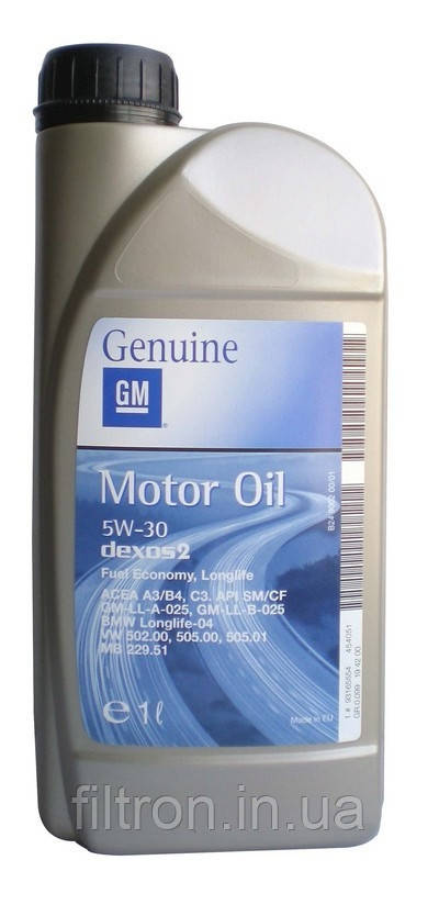 Масло моторное  GM 5w30 Dexos2 1л