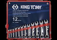 Набор укороченных комбинированных ключей 8-19мм, 12шт. King Tony 1282MR