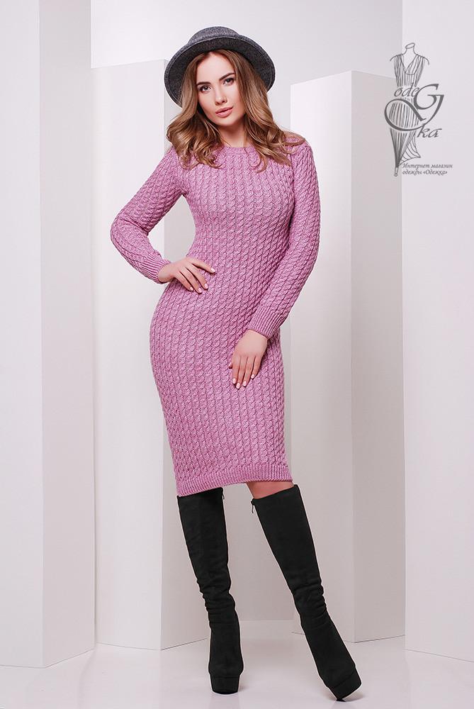 Женское облегающее платье приталенное вязаное Крис
