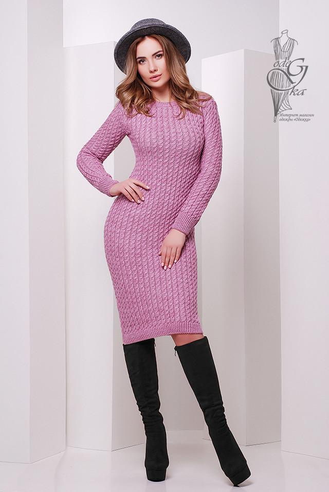 Фото Женского облегающего платья приталенного вязаного Крис