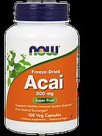 Здоровье сердечно-сосудистой системы - Ягоды Асаи / NOW - Acai 500mg (100 caps)