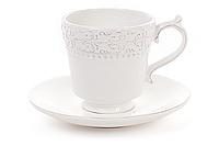 Лилия-2 Чашка с блюдцем 250 мл см керам. бел.