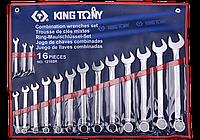 """Набор ключей комби дюймовых 16шт. (1/4"""" - 1-1/4"""") King Tony 1216SR"""