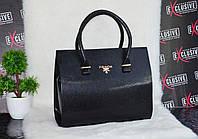 Каркасная сумка Прада черная.
