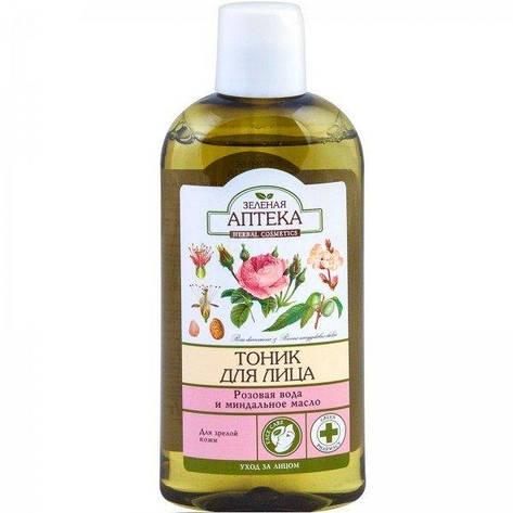 Тоник для лица Розовая вода и миндальное масло, Зеленая Аптека, 200 мл, фото 2