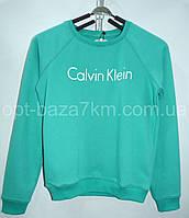 Батники женские оптом Calvin Klein - Турция, трехнитка (S-XL)