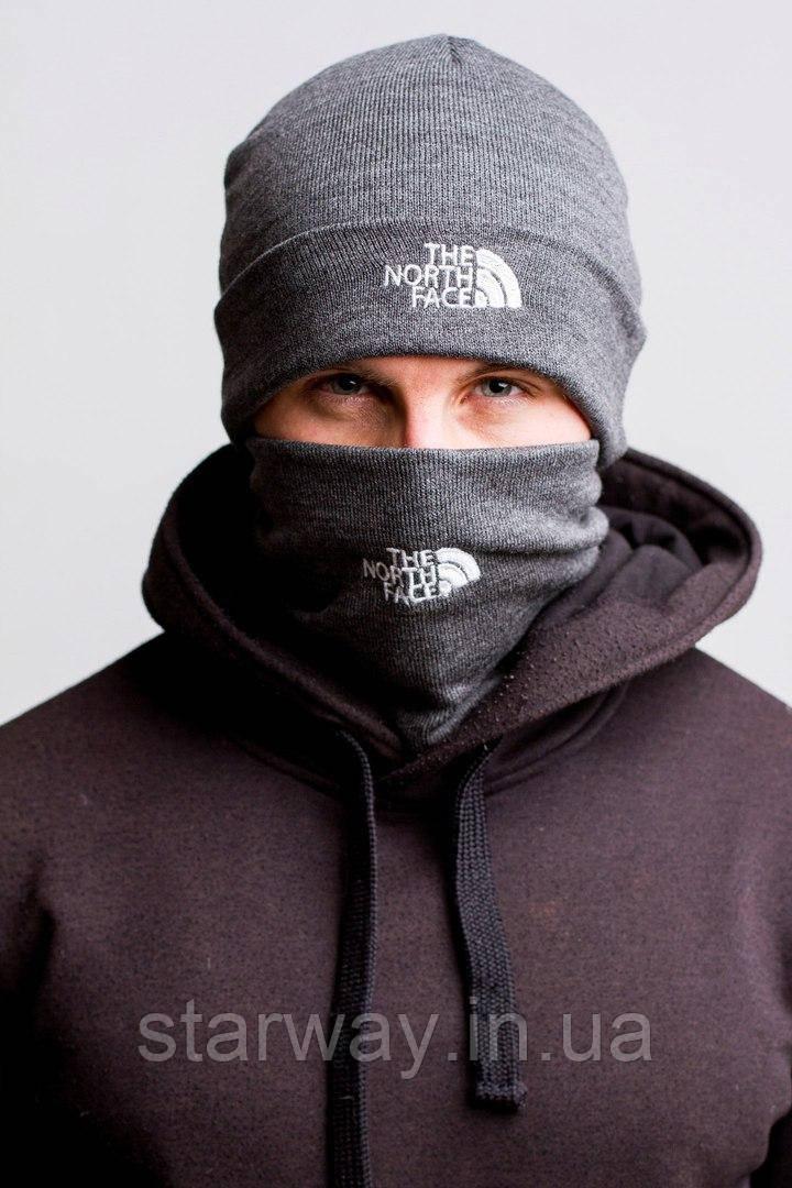 Шапка стильная The North Face лого вышивка