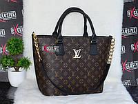Шикарная сумка в стиле LV Louis Vuitton коричневая.