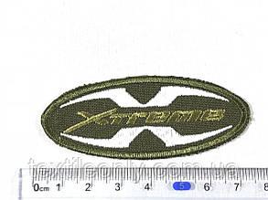 Нашивка Xtreme цвет хаки 70x30 мм, фото 2