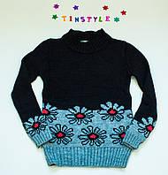 Красивый  вязаный свитерок для девочки на рост 1280134 см