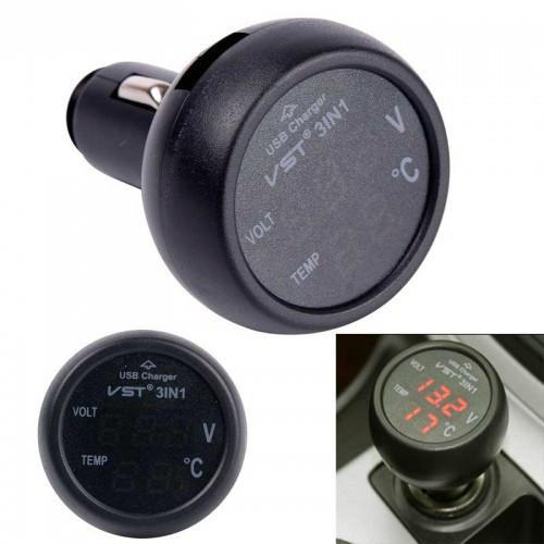 Автомобильный термометр-вольтметр VST 706-1