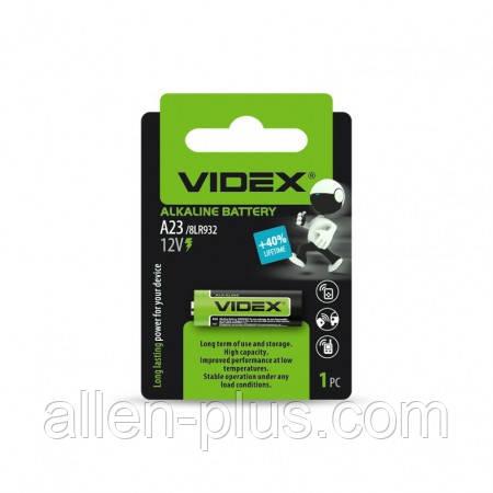 Батарейка щелочная VIDEX А23/Е23А 12V 1pc BLISTER CARD (12/240)