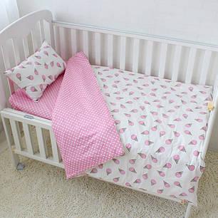 Мороженое розовое Сатин Премиум  ТМ Царский дом в кроватку, фото 2