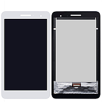 Дисплей (экран) для Huawei T1 (T1-701u) 7.0 3G MediaPad + с сенсором (тачскрином) белый