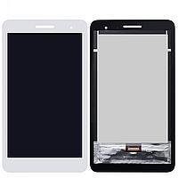 Дисплей (экран) для Huawei T1 (T1-701u) 7.0 3G MediaPad + с сенсором (тачскрином) белый Оригинал