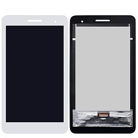 Дисплей (екран) для Huawei T1 (T1-701u) 7.0 3G MediaPad з сенсором (тачскрін) білий Оригінал