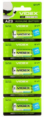 Батарейка щелочная VIDEX А23/Е23А 12V 5pcs BLISTER CARD (50/500)