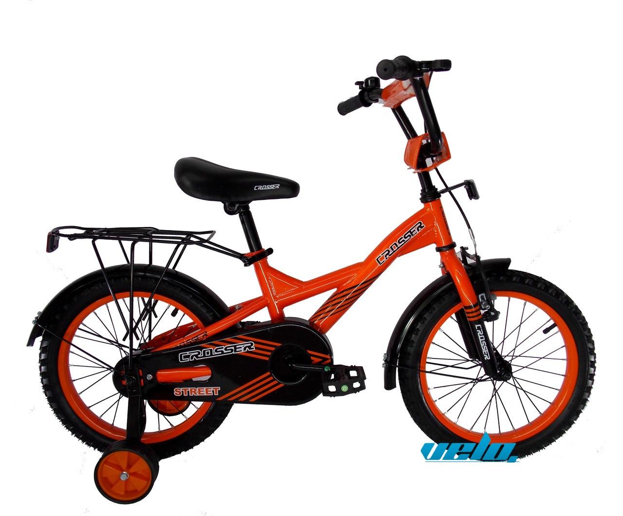 """Детский велосипед CROSSER STREET - 7  16""""  Оранжевый"""