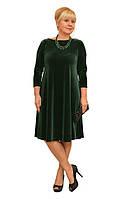 Платье бархат зеленое - Модель Л397-1