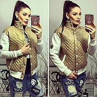 Куртка (S-M, M-L, L-XL) —Плащевка подкладка стеганка на синтепоне купить оптом и в розницу в о