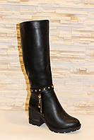 Сапоги женские зимние черные на каблуке С597 р 36 37 39 40 41