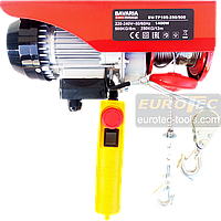 Тельфер 500 кг / 250 кг, 6/12 м Bavaria TP105 электрический тельфер канатная электроталь электрическая лебёдка, фото 1