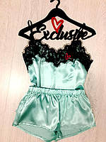 Атласное женское белье для дома,комплект