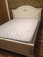 """Кровать деревянная с мягким изголовьем """"Клеопатра"""""""