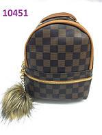 Стильный Рюкзак мини LV Louis Vuitton brown (реплика Луи Витон)