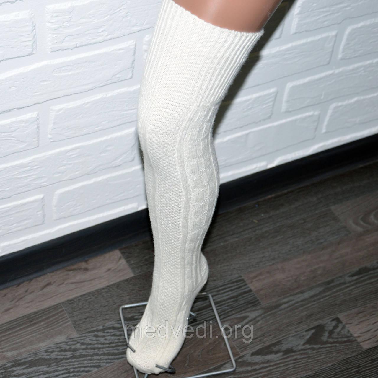 Заколенки гольфы белые женские, гетры выше колена