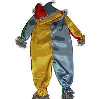 Костюм карнавальный детский 0718 Петрушка атлас, р.р.104-128 см