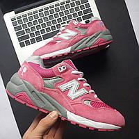 Кроссовки в стиле New Balance 580 Women Barbie Doll Wool Pink Gray женские c5ad2eea0ee