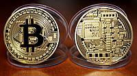 Коллекционная монета Биткоин, фото 1