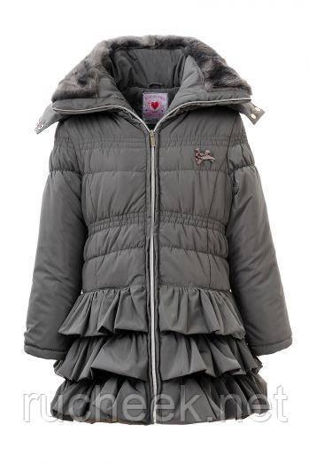 Детское зимнее пальто для девочки, рост 92 - 116, ТМ Glo-story GMA-2725
