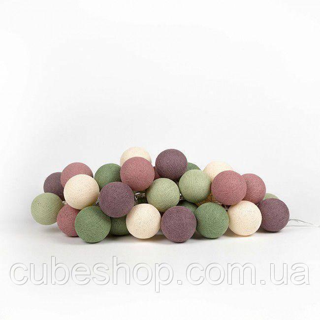 """Тайская гирлянда """"Forest Fruit"""" (20 шариков) петля"""