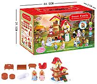 Набор флоксовых животных Happy family 1508 с домиком и мебелью
