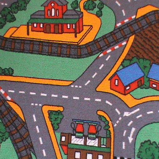 Детский ковер городок Плейтайм