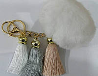 Меховые балабоны для ключей и сумок- меховые брелоки, аксессуары из меха оптом в Украине (13 см) 253