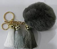 Меховые брелоки балабоны на сумки- меховые брелоки, аксессуары из меха оптом в Украине (13 см) 255