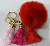 Помпоны брелоки балабоны на сумки- меховые брелоки оптом в Украине (13 см) 257