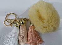 Брелоки с кисточками на сумки и ключи- меховые брелоки оптом в Украине (13 см) 259