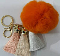 Брелоки помпоны с кисточками на сумки и ключи- меховые брелоки оптом в Украине (13 см) 260