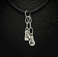 Серебряная подвеска/брелок Боксерские перчатки